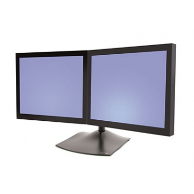 DS100 Dual monitor horizontal stand, Black