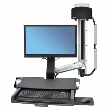 StyleView Sit-Stand Combo System with Work surface