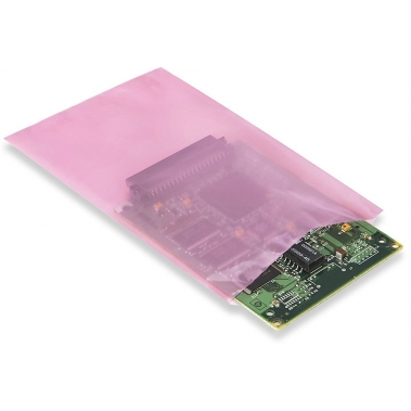 שקית אנטי סטטית ורודה 12x08 מודפס