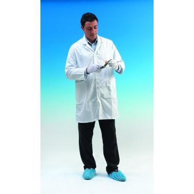 חלוק אנטי סטטי לחדר נקי CLASS 100,לבן מידה L