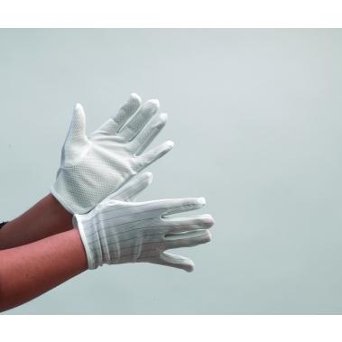כפפות טריקוט אנטי סטטיות לחדר נקי עם ציפוי גומי -נקודות בחלק פנימי, מידה L