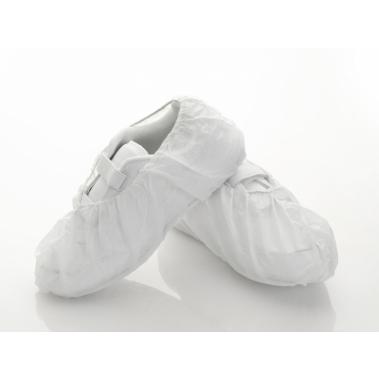כיסוי נעל פוליפרופילן חד פעמי לבן